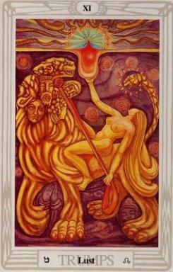 XI Lust, Thoth Tarot