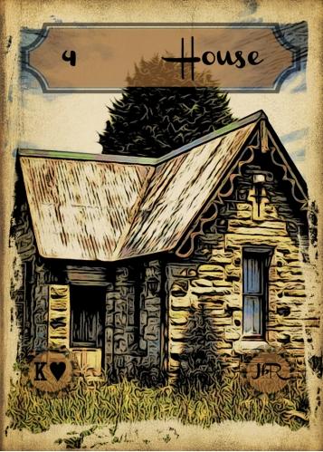 Vintage Lenormand, by RootweaverCard # 4 - House