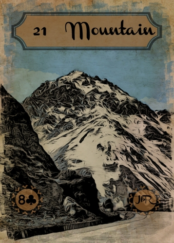 Vintage Lenormand, by RootweaverCard #21 - Mountain