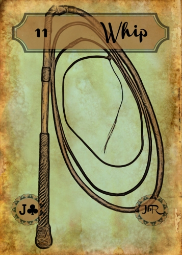 Vintage Lenormand by RootweaverCard #11 - Whip