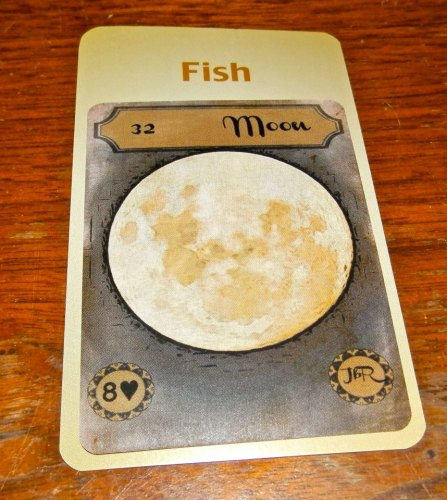 Moon in the House of Fish.Vintage Lenormand by Rootweaver & Deck of Lenormand Houses by Tierney Sadler