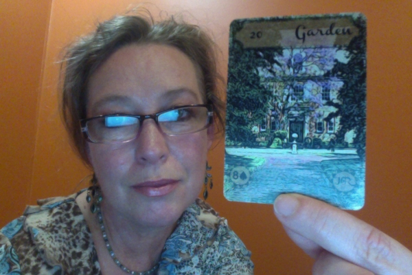 Rootweaver (Vintage Lenormand 'Garden' card)Garden = Public gathering