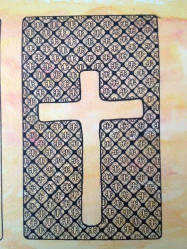 'Cross' by JbR © 2013 using the 'peace knot' doodle pattern.