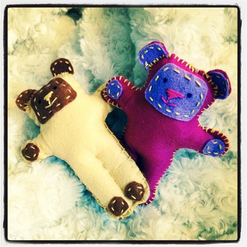 Include small hand-made items like these bear-hugs to personalise your letters to asylum seekers